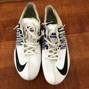 Nike Men's White Racing Sprint Flywire Cleats 11.5